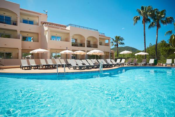 Outdoor pools invisa hotel club cala blanca es figueral beach
