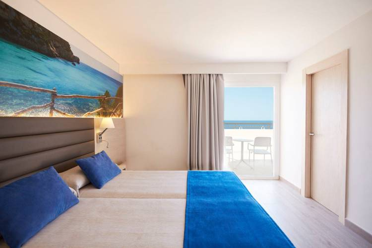 Superior double sea view invisa hotel club cala verde es figueral beach