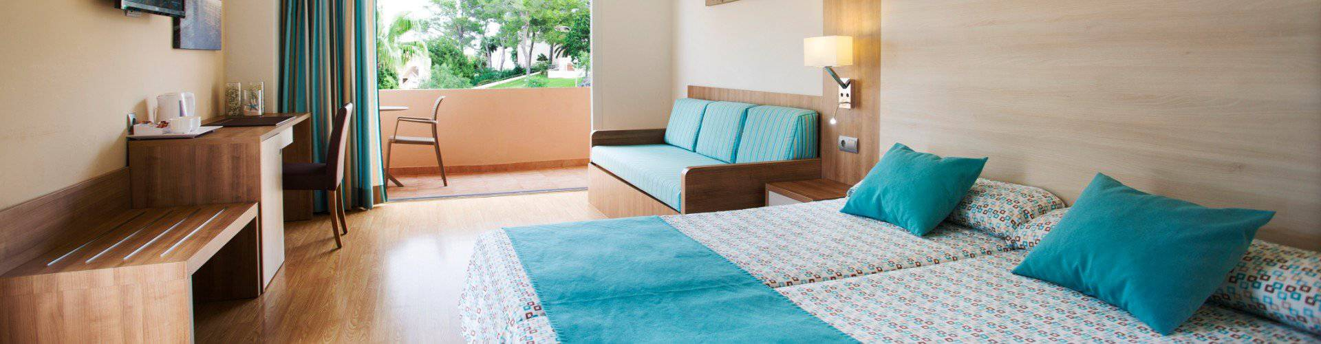 Rooms invisa hotel club cala blanca es figueral beach